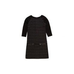 Sukienka damska prosta we wzory. Czarne sukienki hiszpanki TXM, na co dzień. Za 19,99 zł.