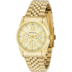 Zegarek kwarcowy w kolorze złotym. Żółte, analogowe zegarki damskie Esprit Watches, ze stali. W wyprzedaży za 272,95 zł.