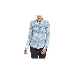 Koszule Vila  TIEDYE. Niebieskie koszule wiązane damskie Vila, m. Za 139,30 zł.