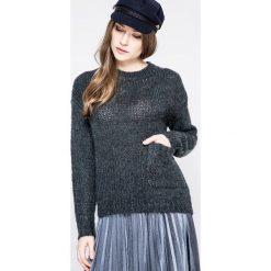 Noisy May - Sweter. Szare swetry klasyczne damskie Noisy May, l, z dzianiny, z okrągłym kołnierzem. W wyprzedaży za 69,90 zł.