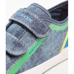 Geox KILWI BOY Tenisówki i Trampki blue/green. Niebieskie tenisówki męskie Geox, z materiału. Za 239,00 zł.