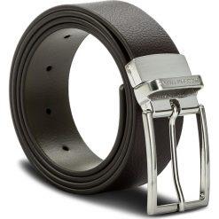 Pasek Męski TRUSSARDI JEANS - 71L00028 105 B680. Brązowe paski męskie Trussardi Jeans, w paski, z jeansu. W wyprzedaży za 239,00 zł.