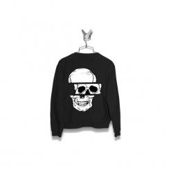 Bluza 3 poziomy czaszki Męska. Szare bluzy męskie marki Button. Za 160,00 zł.