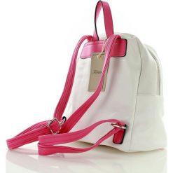 Plecaki damskie: Sportowy plecak biały z różowym