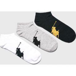 Polo Ralph Lauren - Skarpety (3-pack). Szare skarpetki męskie marki Polo Ralph Lauren, z bawełny. Za 89,90 zł.