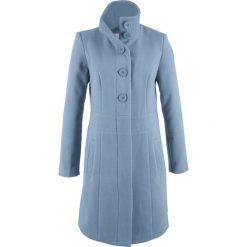 Płaszcz bonprix matowy niebieski. Niebieskie płaszcze damskie bonprix. Za 169,99 zł.