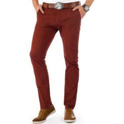 Chinosy męskie: Spodnie męskie chinos bordowe (ux0382)