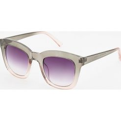 Okulary przeciwsłoneczne - Różowy. Czerwone okulary przeciwsłoneczne damskie lenonki Reserved. Za 39,99 zł.