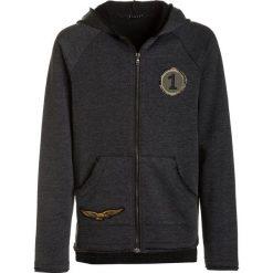 Sisley HOOD Bluza rozpinana dark grey. Czarne bluzy chłopięce rozpinane marki Sisley, l. W wyprzedaży za 135,20 zł.