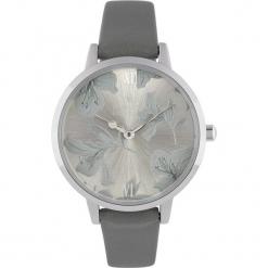 """Zegarek kwarcowy """"Floral"""" w kolorze szaro-srebrnym. Szare, analogowe zegarki damskie Stylowe zegarki, srebrne. W wyprzedaży za 139,95 zł."""