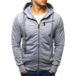 Bluzy męskie: Bluza męska rozpinana z kapturem szara (bx2273)