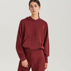 Bluza z kapturem ReDesign - Fioletowy. Czarne bluzy z kapturem damskie marki DOMYOS, xl, z bawełny. Za 199,99 zł.