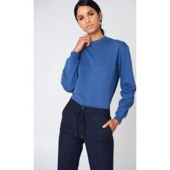 NA-KD Basic Bluza basic - Blue. Różowe bluzy damskie marki NA-KD Basic, prążkowane. Za 100,95 zł.