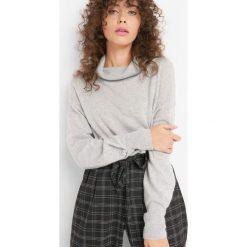 Sweter z kaszmirem i jedwabiem. Szare golfy damskie Orsay, s, z dzianiny. Za 159,99 zł.