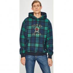 Tommy Jeans - Bluza. Szare bejsbolówki męskie Tommy Jeans, l, z aplikacjami, z bawełny, z kapturem. Za 649,90 zł.