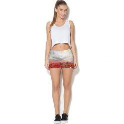 Colour Pleasure Spodnie damskie CP-020 55 beżowo-zielono-czerwone r. XL-XXL. Brązowe spodnie sportowe damskie marki Colour pleasure, xl. Za 72,34 zł.