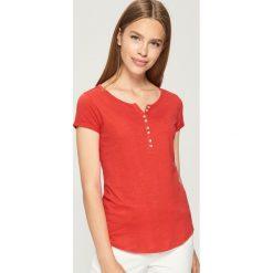 Odzież damska: T-shirt BASIC - Pomarańczo