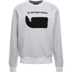 GStar REVIR STOR RAGLAN R SW L/S Bluza grey heather. Białe bluzy męskie marki G-Star, z nadrukiem. Za 369,00 zł.