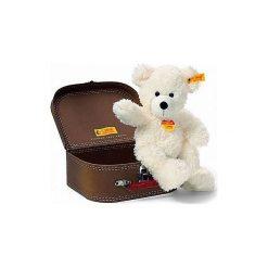 Steiff  Maskotka Miś Lotte z kuferkiem 28 cm kolor biały. Czarne przytulanki i maskotki marki Tm Toys, z tkaniny. Za 152,00 zł.