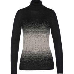 Sweter z golfem bonprix czarno-kamienisty. Czarne golfy damskie bonprix. Za 74,99 zł.