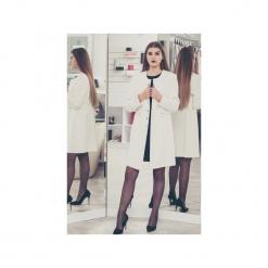 Płaszcz Elegant. Białe płaszcze damskie pastelowe 3 for u, xxl, biznesowe. Za 420,00 zł.