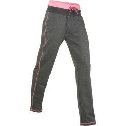 Spodnie sportowe, długie, Level 1 bonprix antracytowy melanż. Szare spodnie sportowe damskie bonprix, melanż. Za 74,99 zł.