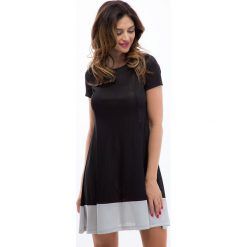 Sukienki: Sukienka czarny / szary 3396