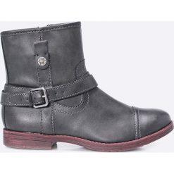 Tamaris - Botki. Szare buty zimowe damskie marki Tamaris, z materiału. W wyprzedaży za 89,90 zł.