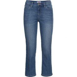 Wygodne dżinsy ze stretchem 7/8 STRAIGHT bonprix niebieski. Niebieskie jeansy damskie bonprix. Za 74,99 zł.
