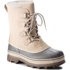 Śniegowce SOREL - Caribou NM1000 Oatmeal/Quarry 241. Brązowe śniegowce męskie Sorel, z gumy. W wyprzedaży za 519,00 zł.