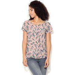 Colour Pleasure Koszulka damska CP-034  276 szaro- różowa r. M-L. Czerwone bluzki damskie Colour pleasure, l. Za 70,35 zł.