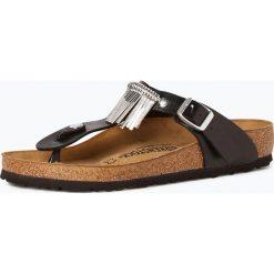 Sandały damskie: Birkenstock - Sandały damskie z dodatkiem skóry – Gizeh Fringe, czarny