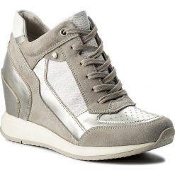 Sneakersy GEOX - D Nydame A D540QA 022AS C1355 Lt Grey/Silver. Szare sneakersy damskie Geox, z materiału. W wyprzedaży za 329,00 zł.