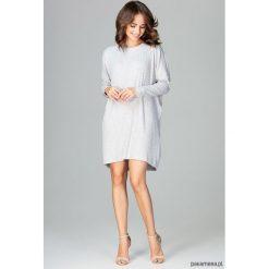 Sukienka K467 szary. Niebieskie sukienki mini marki Pakamera, z bawełny. Za 169,00 zł.