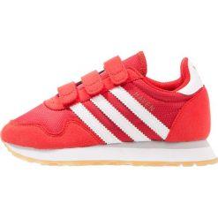 Adidas Originals HAVEN CF C Tenisówki i Trampki red/footwear white. Czerwone trampki chłopięce marki adidas Originals, z materiału. W wyprzedaży za 199,20 zł.