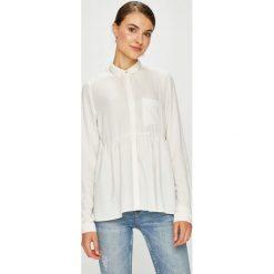 Review - Koszula. Szare koszule damskie Review, l, z materiału, casualowe, z klasycznym kołnierzykiem, z długim rękawem. Za 149,90 zł.