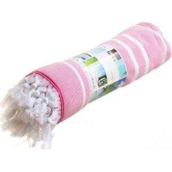 """Kąpielówki męskie: Fouta """"Oasis"""" w kolorze różowo-białym – 160 x 90 cm"""
