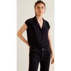Mango - Koszula Pipe. Szare koszule wiązane damskie Mango, l, z tkaniny, z krótkim rękawem. W wyprzedaży za 69,90 zł.