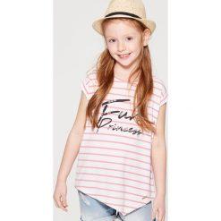 T-shirty damskie: Asymetryczna koszulka dla dziewczynki little princess – Biały