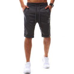 Spodenki i szorty męskie: Krótkie spodenki dresowe męskie antracytowe (sx0416)