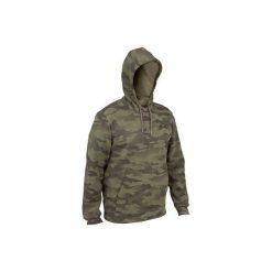 Bluza z kapturem 300 halftone. Brązowe bluzy męskie rozpinane marki SOLOGNAC, xl, z kapturem. W wyprzedaży za 79,99 zł.