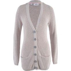 Sweter rozpinany z kieszeniami bonprix jasnoszary - pastelowy jasnoróżowy melanż. Czerwone swetry rozpinane damskie marki bonprix. Za 74,99 zł.