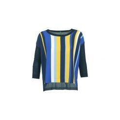 Swetry Benetton  OVEZAK. Niebieskie swetry klasyczne damskie marki Benetton, l. Za 175,20 zł.