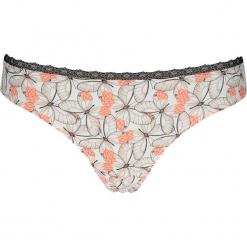 """Stringi """"Sina"""" w kolorze brzoskwiniowo-kremowym. Białe stringi Esprit, w koronkowe wzory, z koronki. W wyprzedaży za 43,95 zł."""