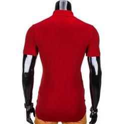 KOSZULKA MĘSKA POLO BEZ NADRUKU S837 - BORDOWA. Szare koszulki polo marki Lacoste, z gumy, na sznurówki, thinsulate. Za 29,00 zł.
