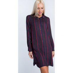 Sukienka koszulowa w paski ALZ3076. Czarne sukienki marki Fasardi, m, z dresówki. Za 99,00 zł.
