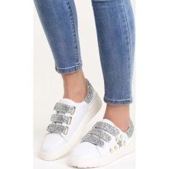 Białe Buty Sportowe Laugh in Face. Białe buty sportowe damskie marki Born2be, w paski. Za 79,99 zł.