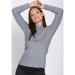 Szary Sweter Discernment. Szare swetry klasyczne damskie Born2be, l, ze stójką. Za 49,99 zł.