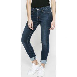 Levi's - Jeansy 711. Brązowe jeansy damskie marki Levi's®, z bawełny. W wyprzedaży za 199,90 zł.