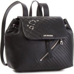 Plecak LOVE MOSCHINO - JC4076PP16LL0000  Nero. Czarne plecaki damskie marki Love Moschino, ze skóry ekologicznej, eleganckie. Za 959,00 zł.